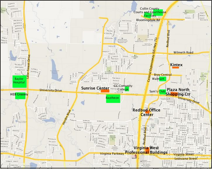 Map of Dill Investment properties