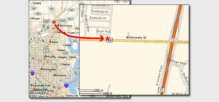 Location map for Sunrise Office Center